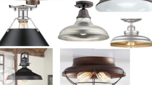 Garage Light, One room challenge, industrial lighting, garage light, pendant lights, flush lighting, budget savvy lighting