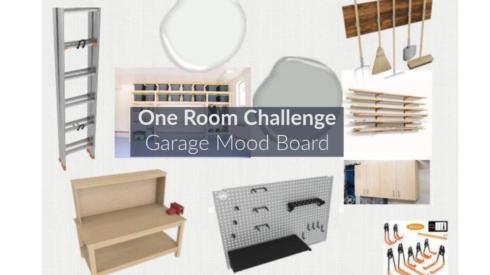 One Room Challenge, ORC, Garage Mood Board, Garage Design Board, Design Board, Garage, Garage Layout, Workshop, Worshop Layout, Garage Storage, Garage Design