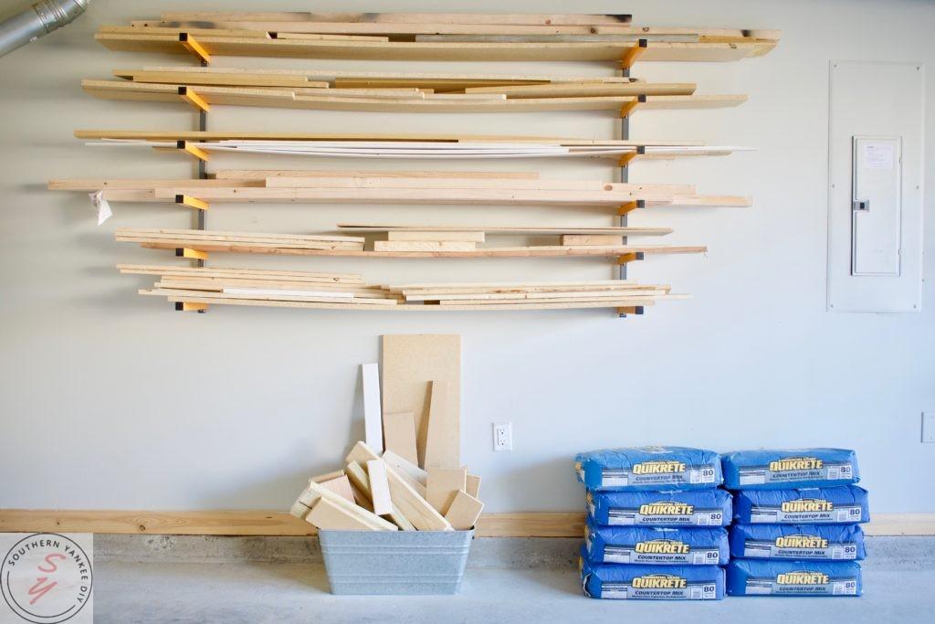 scrap Wood Storage Solutions & Organization ORC, One room challenege, storage, garage, shelving, garage organization, garage renovation