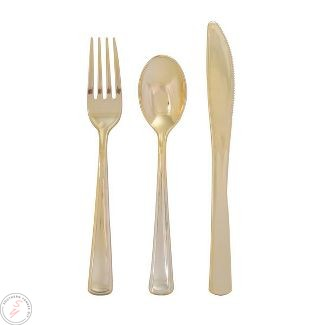 gold silverware, table setting, how to set a table